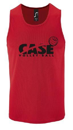 6c026d4152513 Débardeur technique Case Volley Rouge/Noir – CASE Volley Ball